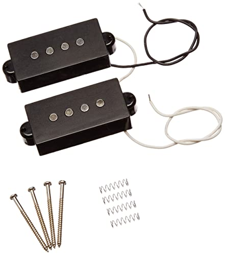 Black 4 String Electric Pickup Humbucker For Precision Bass Guitar 1 Pair From Kmise (A0496)