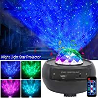 Star Projector Night Light,Ganeed 2 in 1 Starry Projector w/LED Nebula Cloud with Remote Control& Built-in Music Player…