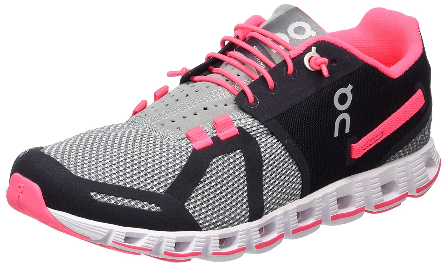 On Women s Running Cloud Sneaker, Grey Neon Pink – 5.5 B M US