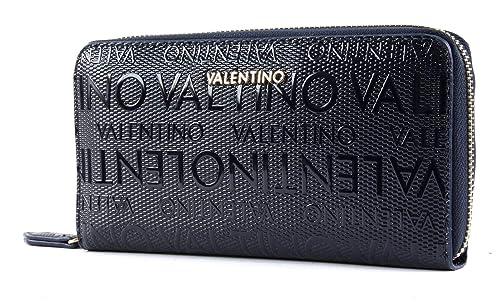 Mario Valentino VPS1OM155 - Cartera para mujer de Poliuretano Mujer Azul Azul (Blu 002)