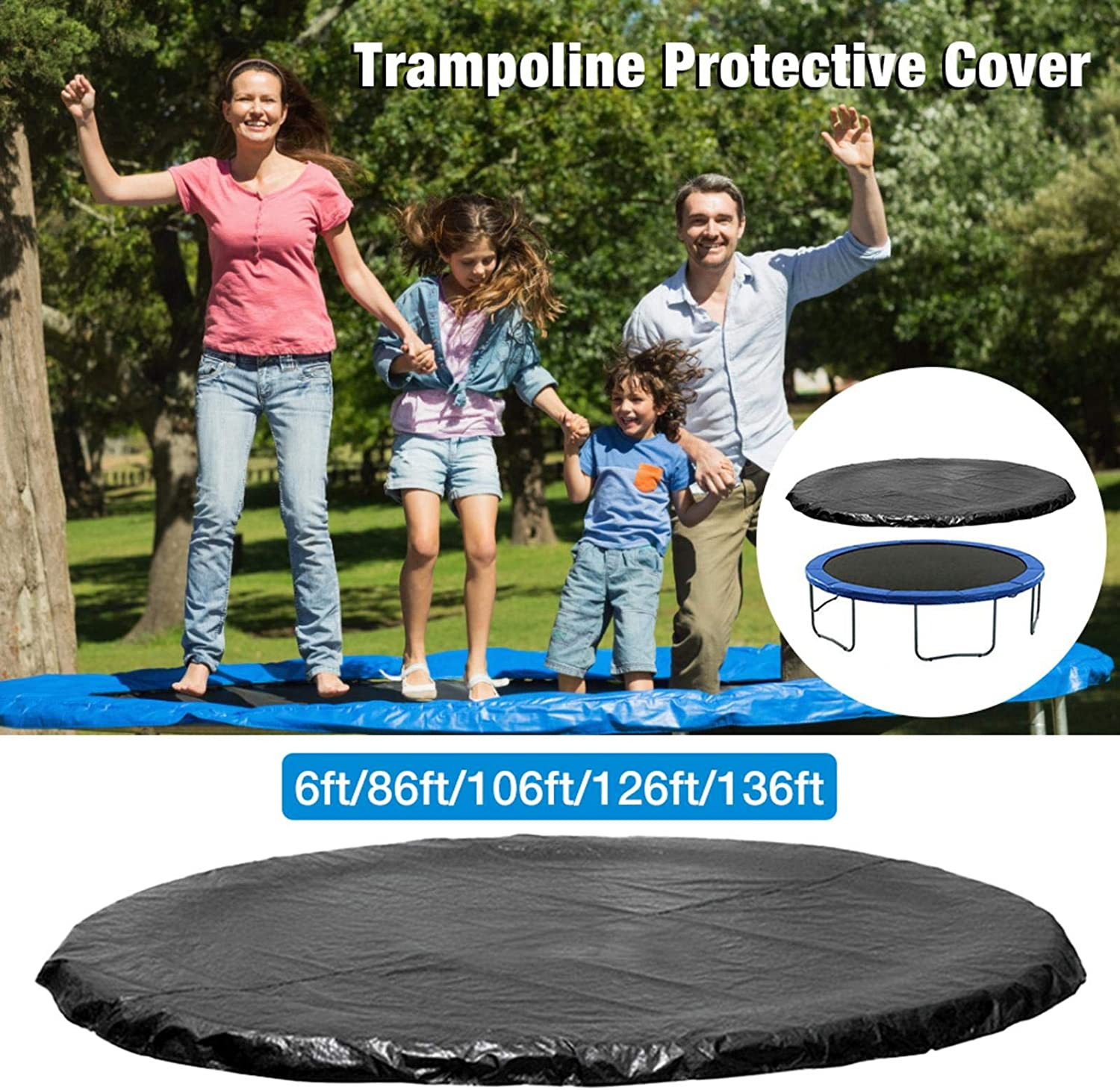 UV Resistant Thick Material Weather and Rain Protection Perfect Bounce Xianggu 6ft 8ft 10ft 12ft 13ft Trampoline Cover Trampoline Replacement Pro Jumping Mat