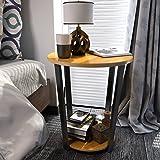 Lifewit Beistelltisch Rund Kaffeetisch Couchtisch Sofatisch Tisch Balkontisch Wohnzimmertisch Gelb&Schwarz