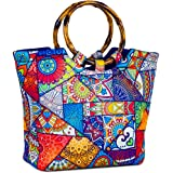 CHAUDER Insulated Neoprene Lunch Bag: Large Lunch Tote Carry Case Box Cooler Container with Zipper, Washable, Reusable, Perfect For Women, Girls, Kids To School, Office, Outdoors Picnic (Kaleidoscope)