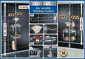 Wenko teleskopregal structura ohne bohren küchenregal metall