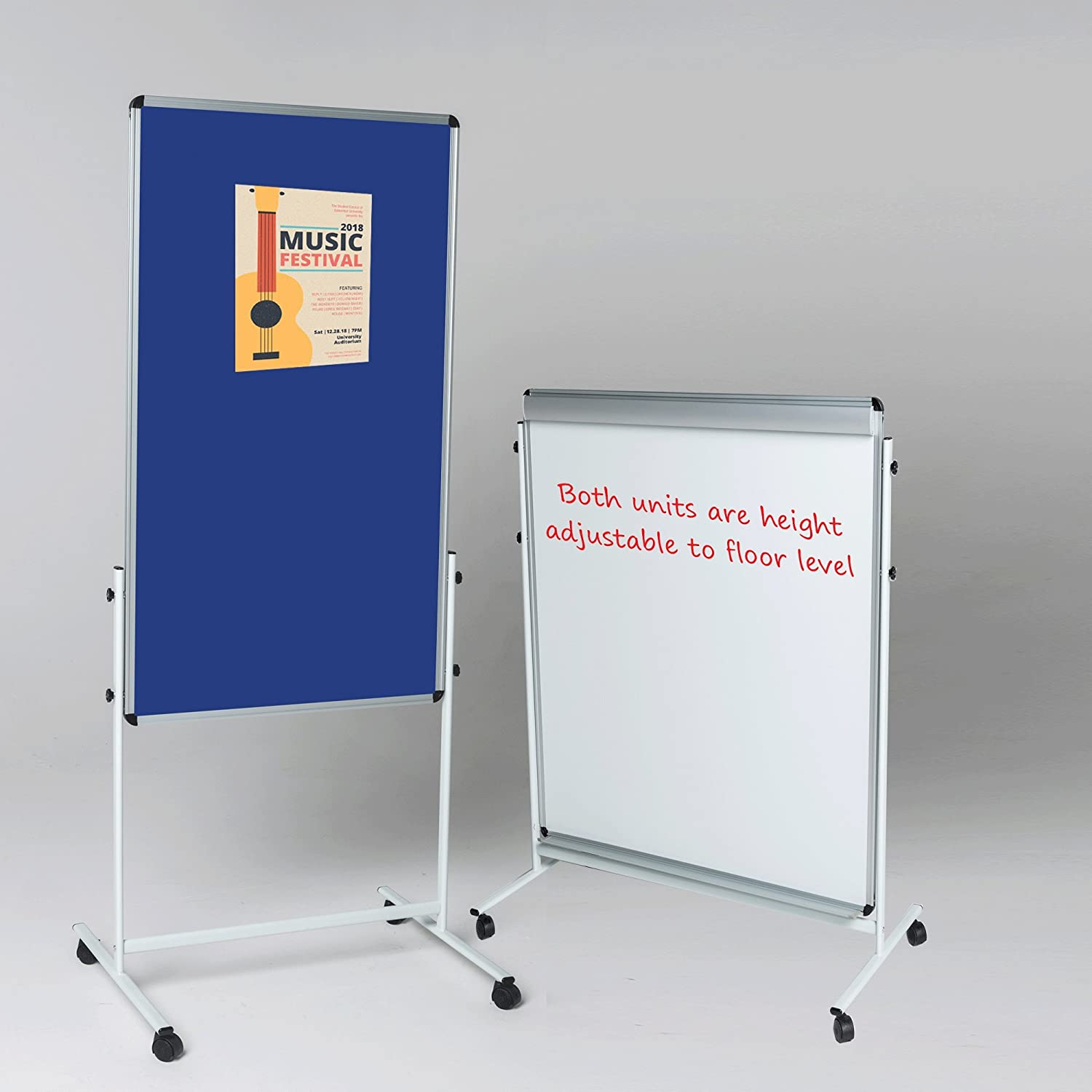 120 x 90 cm 2 Sizes to Choose from incl. Wonderwall Non-Magnetic Double-Sided Dry-Wipe Whiteboard with a Pack of 4 Dry Wipe pens