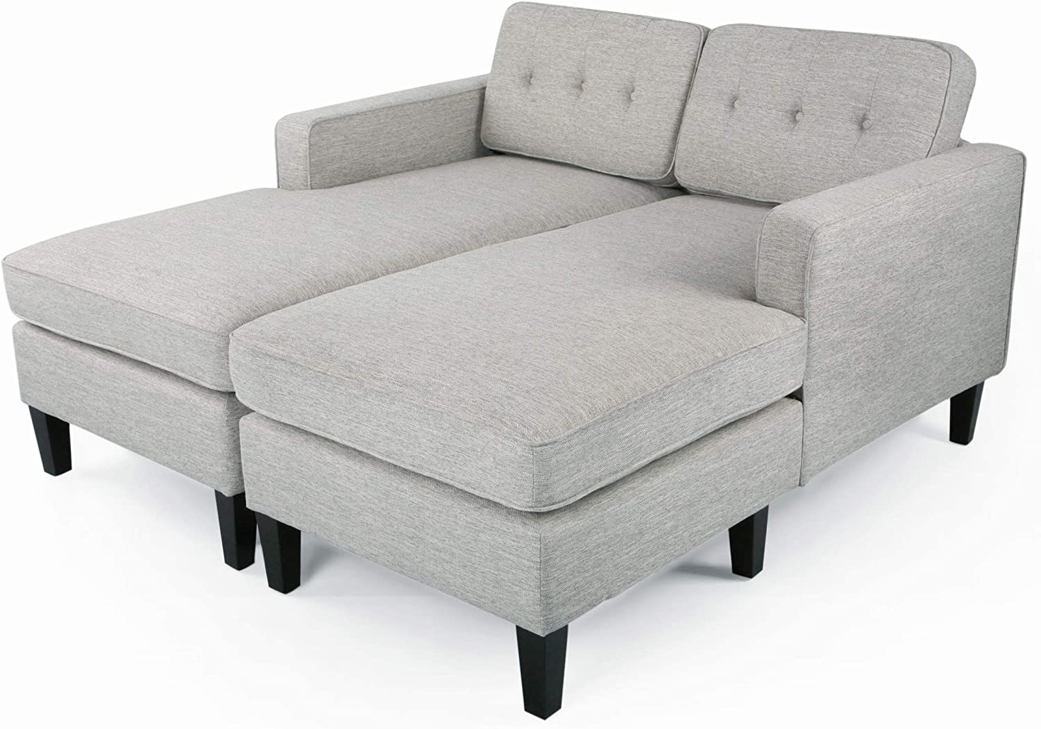 - Amazon.com: Jean Modern Fabric Double Chaise Daybed, Light Gray