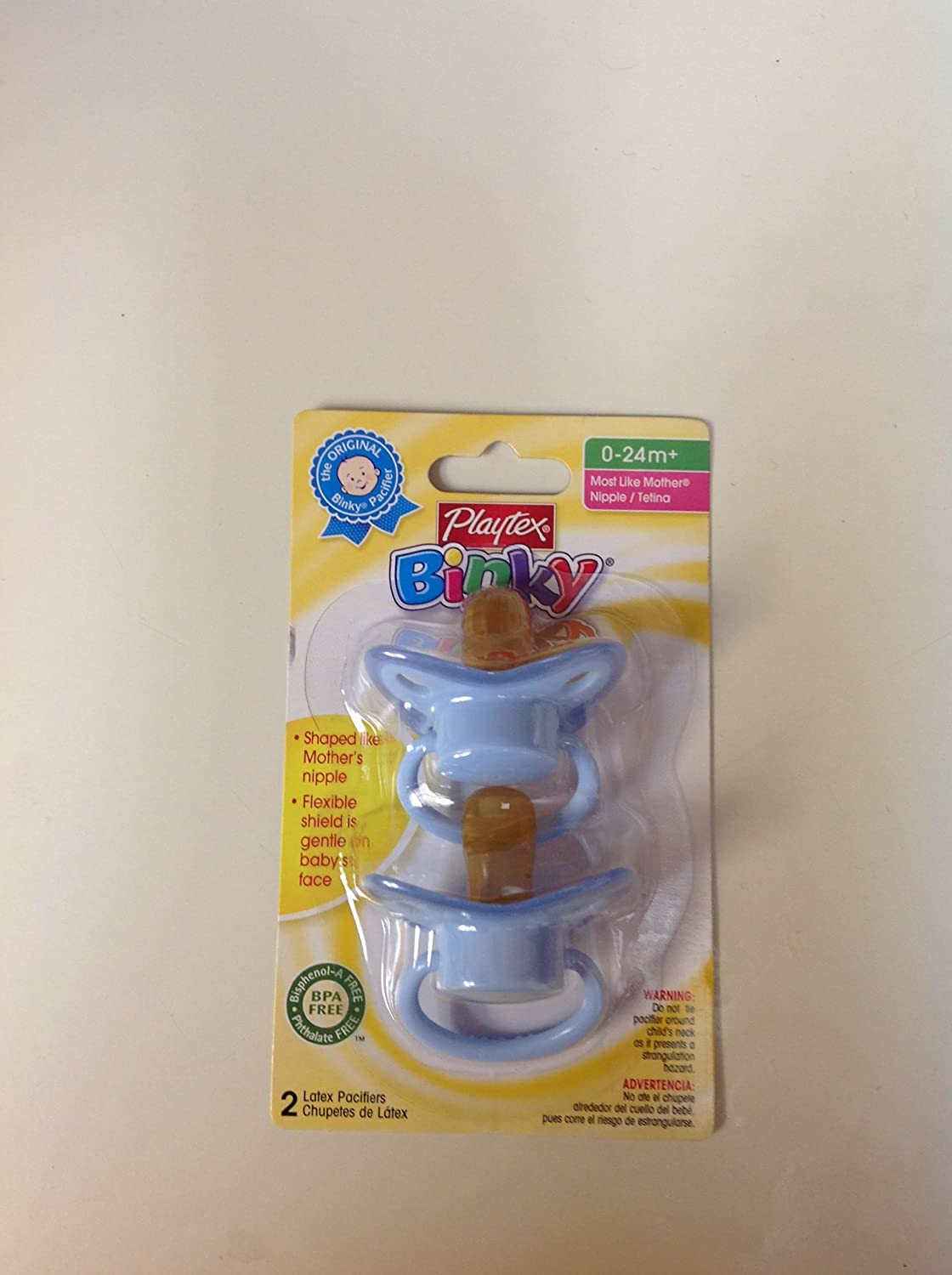 Playtex Baby Binky Most Like Mother Latex Pacifiers: Blue