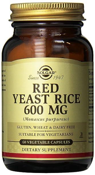 Solgar – Red Yeast Rice, 60 Vegetable Capsules