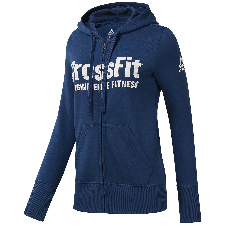 f6cedff3ef7a1 Reebok Sweatshirt à capuche zippé femme Crossfit  Amazon.co.uk  Sports    Outdoors