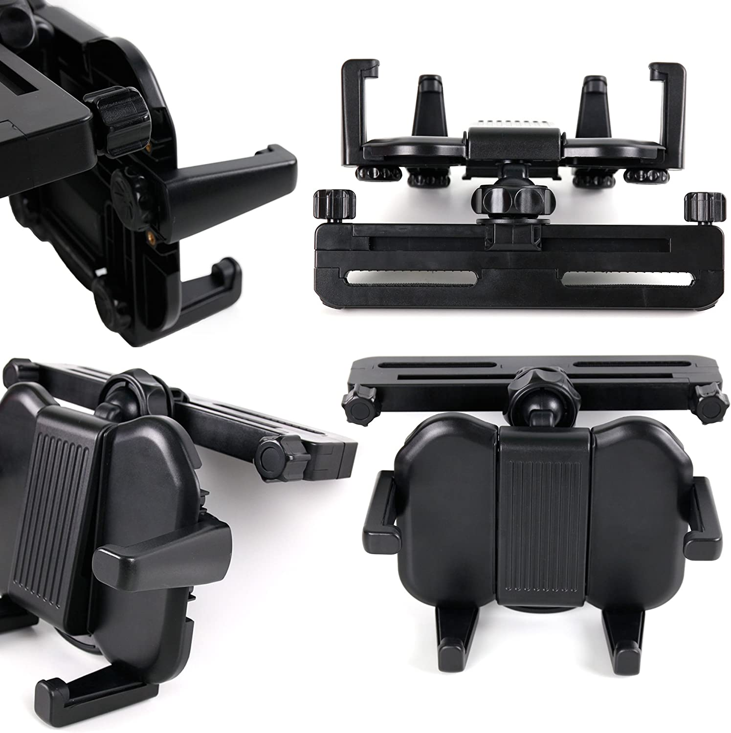 DURAGADGET in-Car Headrest Mount w/Adjustable Arms - Suitable for Use with Acer Iconia Tab A700 | Iconia W700 & Elonex ETouch Tablet