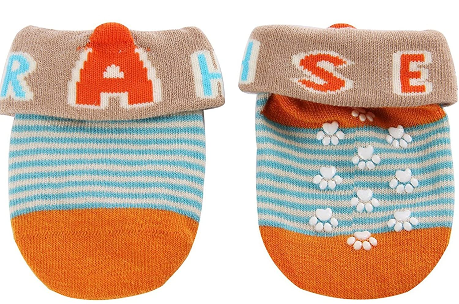 Chickwin 5pairs Non-Skid Anti Slip Newborn Cotton Ankle Sock With Cute Box