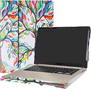 """Alapmk Protective Case Cover for 15.6"""" ASUS VivoBook S15 S510 S510UA S510UQ S510UN F510UA X510UQ Series Laptop(Warning:Not fit Other Model),Love Tree"""