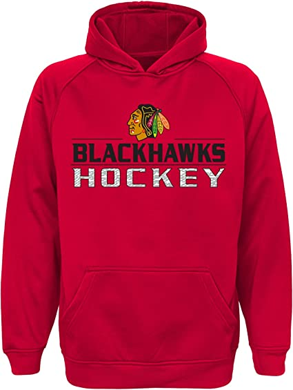 NHL  Boys Outerstuff Real Grey Performance Hoodie