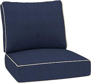 Creative Living Refresh Patio Single Chair Cushion, Sisal Indigo