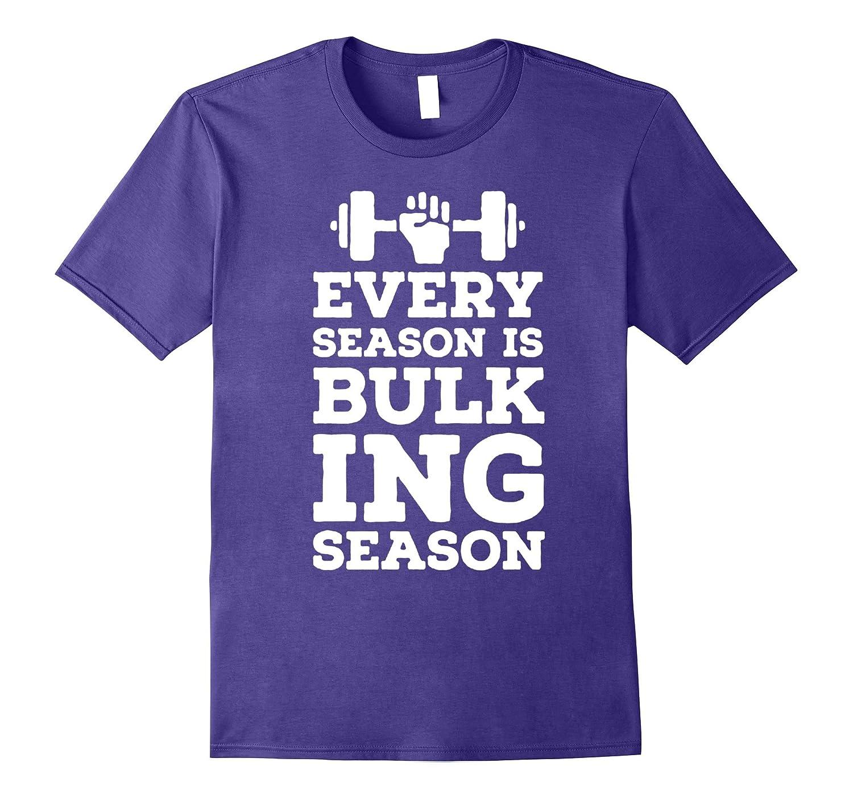 every season is bulking -fitness gym motivation music tshirt-Art