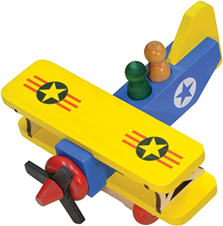 Amazon Com Classic Biplane Made In Usa Toys Games