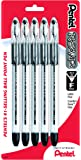Pentel R.S.V.P. Ballpoint Pen, Fine Line, Black Ink, 5 Pack  (BK90BP5A)
