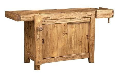 Biscottini Banco da lavoro Country in legno massello di tiglio ...