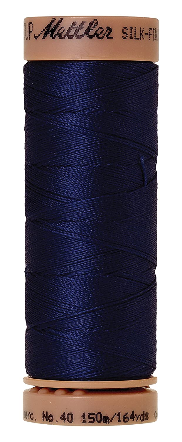 Mettler Silk-Finish 40 Weight Solid Cotton Thread, 164 yd/150m, Imperial Blue by Mettler   B00Q9T5N6C
