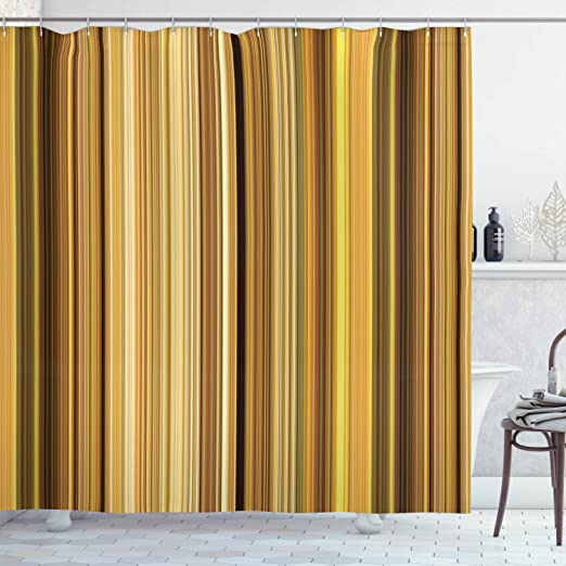 Amazon.com: Lunarable Yellow and Brown Shower Curtain, Abstract