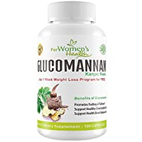Glucomannan Capsules from Konjac Root Powder - Safe & Natural Way To Reduce Appetite...