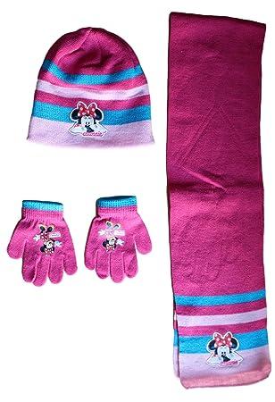Réduction prix de détail prix imbattable Minnie Bonnet avec Gant ET Echarpe Ensemble Disney Mickey ...