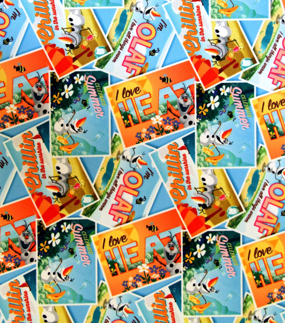 Disney Frozen Olaf Postcards Toss Twill Disney Officially Licensed Great for Quilting, Sewing, Craft Projects, Quilt, Throw Pillows /& Mo 1 Yard 1 Yard X 60