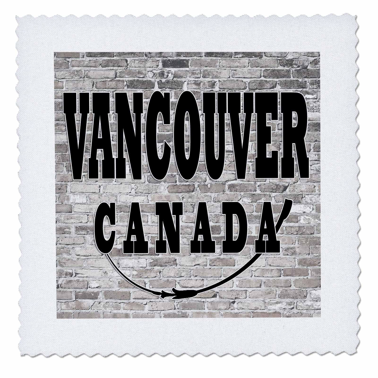 3dRose RinaPiro - Cities around the World - Vancouver. Canada. Brick wall. - 22x22 inch quilt square (qs_261442_9)