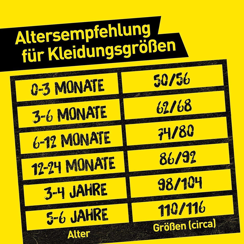 Borussia Dortmund Body pour b/éb/é Plus Marque-page I Love Dortmund 100 /% BVB BVB 09 Manches courtes