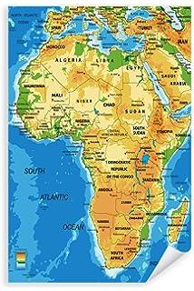 Amazon De Poster 61 X 91 5 Cm Afrika Karte