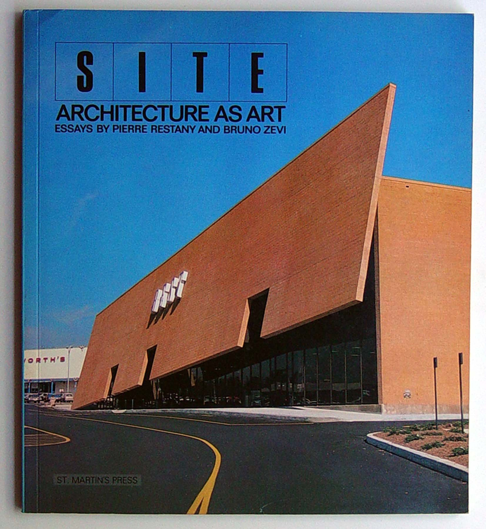 site architecture as art essays by pierre restany and bruno zevi site architecture as art essays by pierre restany and bruno zevi pierre restany bruno zevi site 9780312048143 com books