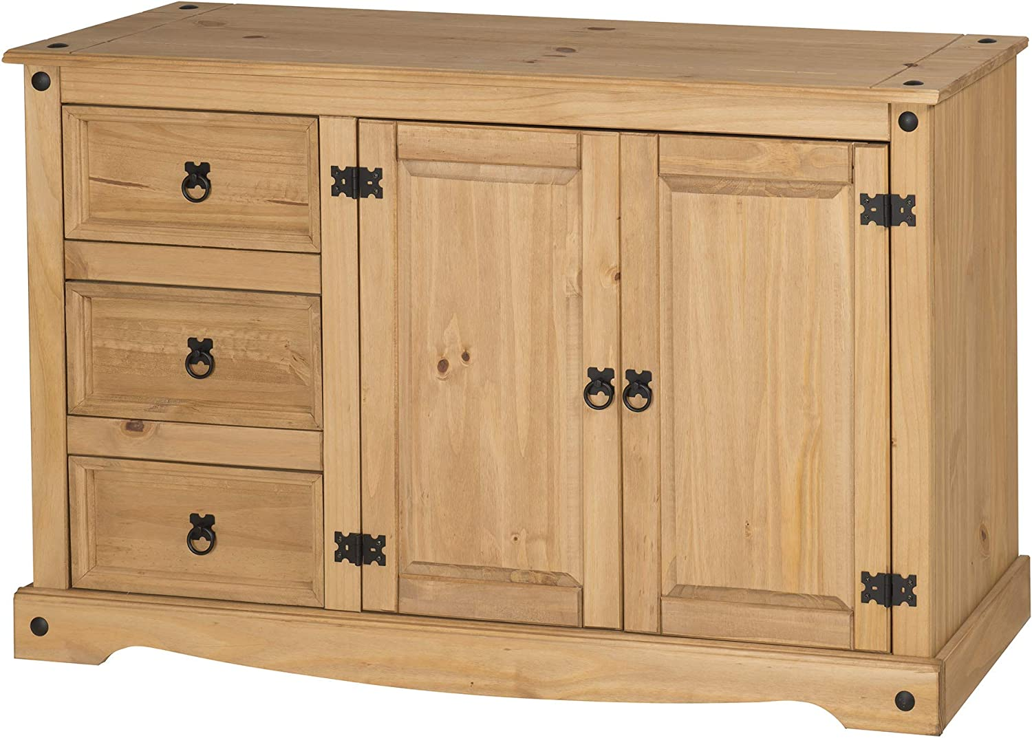 Mercers Furniture Corona 2 Door 3 Drawer Low Sideboard Pine Amazon Co Uk Kitchen Home