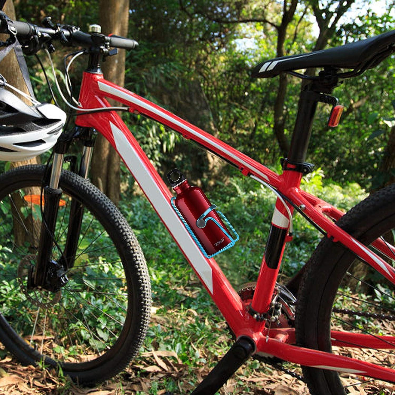 portabidon Bicicleta sostenedor de Jaula de Agua Botella para Bicicleta de aleaci/ón de Aluminio Ligero portabidon HappyLohas 2 Paquete portabidones