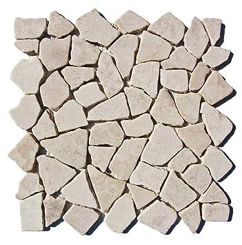 M 003 Marmormosaik Badezimmer Naturstein Bruchstein Stein Mosaik Fliesen  Lager Verkauf Herne NRW