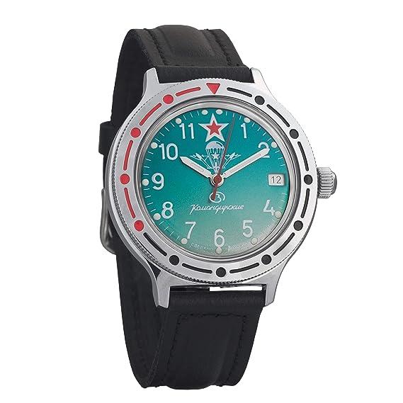 Vostok # 921307 KOMANDIRSKIE mecánico automático ruso muñeca reloj 2416b