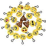 Isuper 24 pezzi ciondoli di emoji non solo portachivi ma anche una decorazione sullo zaino in macchina o per bambim