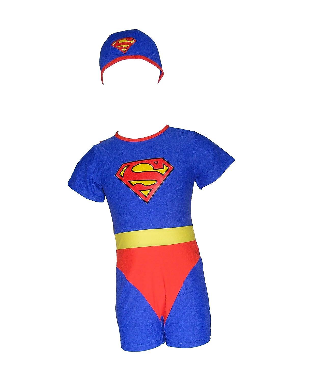 Colorfulworldstore Superman-Badebekleidung für Jungen-Einteiliger UV-Schutz-Schwimmanzug für Jungen-Strand-und Badebekleidung für Jungen 1805