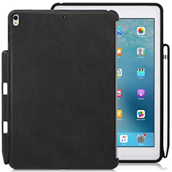 KHOMO - iPad Pro 10.5 Inch & iPad Air 10.5 Inch (3rd Generation, 2019)  Black PU Leather Case With Pen Holder - Companion Cover - Perfect match for ...