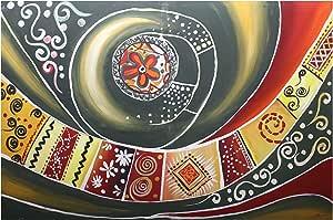 لوحة قماش صناعة يدوية - 170x110 سم
