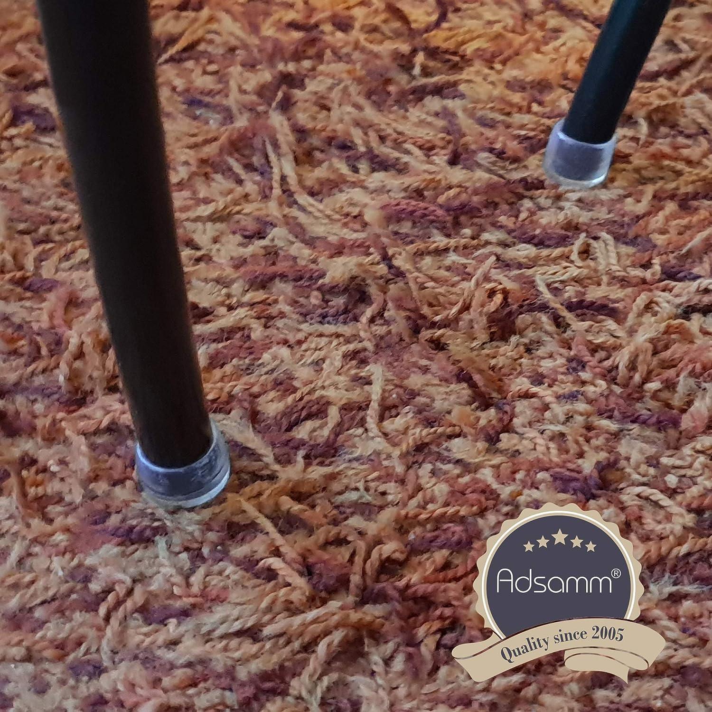 Adsamm/® Lot de 32 embouts de chaise /Ø 12 mm Transparent Pour chaises de meuble