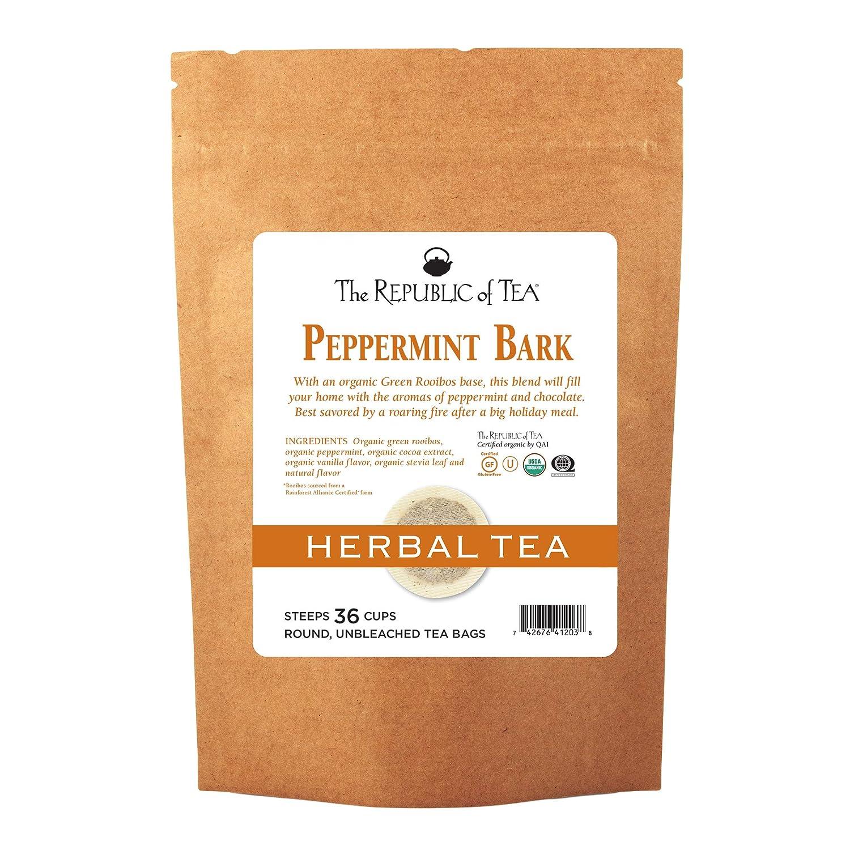 36 Tea Bags Fusion Of Cocoa And Peppermint Tea SYNCHKG125521 The Republic Of Tea Organic Peppermint Bark Herb Tea