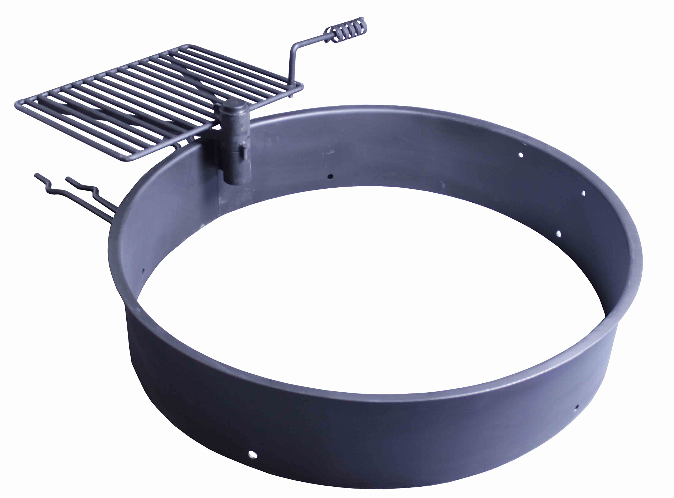 36'' Steel Fire Ring with Cooking Grate Campfire Pit Park Grill BBQ Camping Trail by Titan Outdoors (Image #5)