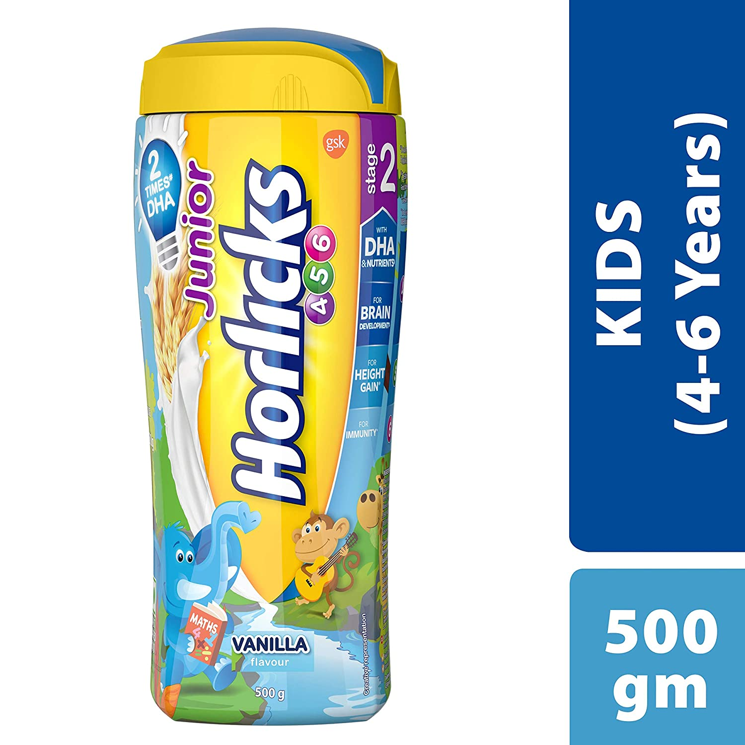 Buy Junior Horlicks Stage 2 4 6 Years Health And Nutrition Drink 500 G Pet Jar Vanilla Flavor Online At Low Prices In India Amazon In