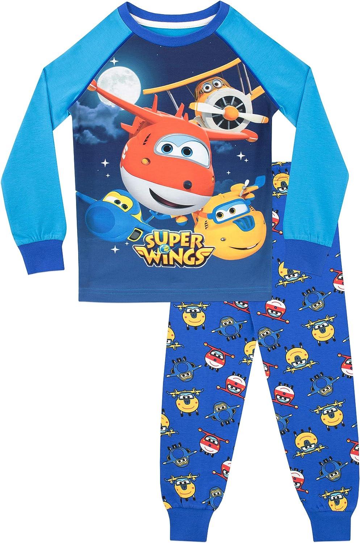 Super Wings Pijama para Niños Jett y Donnie Ajuste Ceñido