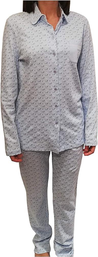 Senoretta Pijamas Mujer Dos Piezas Azul 100% Algodón Art ...