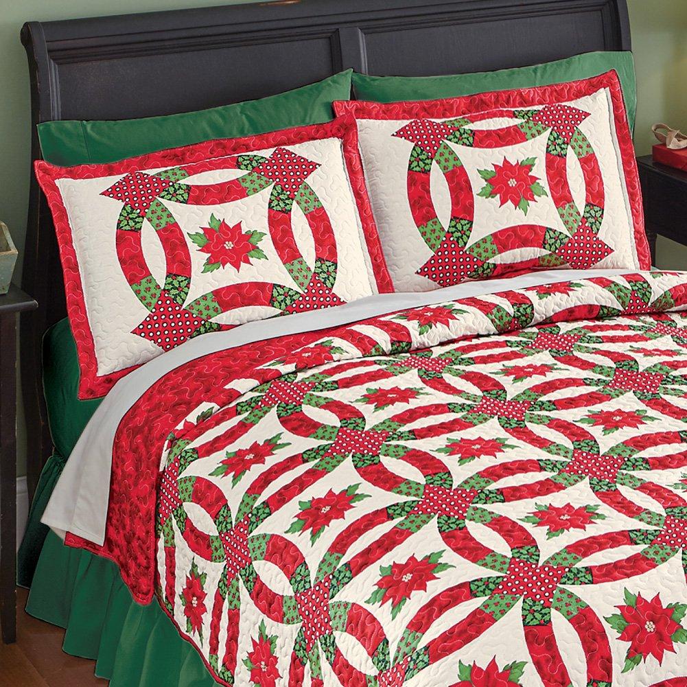 Amazon.com: Holiday Poinsettia Wedding Ring Pillow Sham: Home & Kitchen