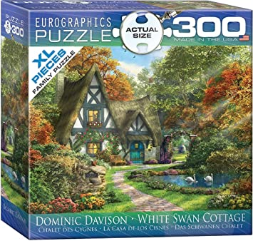EuroGraphics White Swan Cottage by Dominic Davison Puzzle (300 Piece), Small