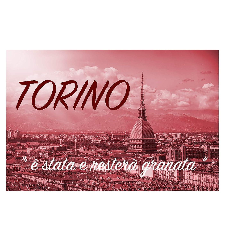 dise/ño de Torino F/útbol FC y Tarjeta Torino Llavero Dorado de Metal esmaltado tex family