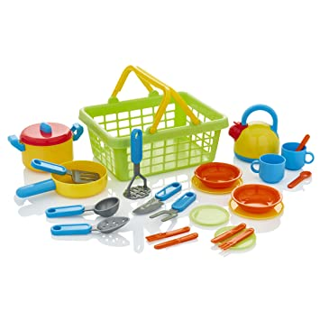 KiddyPlay Cook & Serve Cesta de la cocina Playset: Amazon.es ...