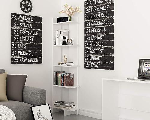 Decorotika Alice 5-Tier Corner Bookcase Bookshelf